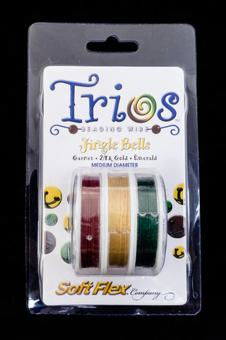 "Soft Flex Trios- ""Jingle Bells"" Medium-General Bead"