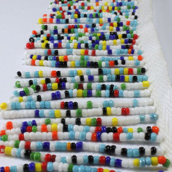 "2 1/4"" Opaque Multi-Color Beaded Fringe"