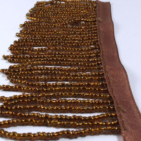 "2"" Shining Brown Beaded Fringe"