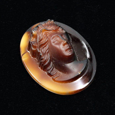 26mm x 34mm Brown Cameo #XS117-A-General Bead