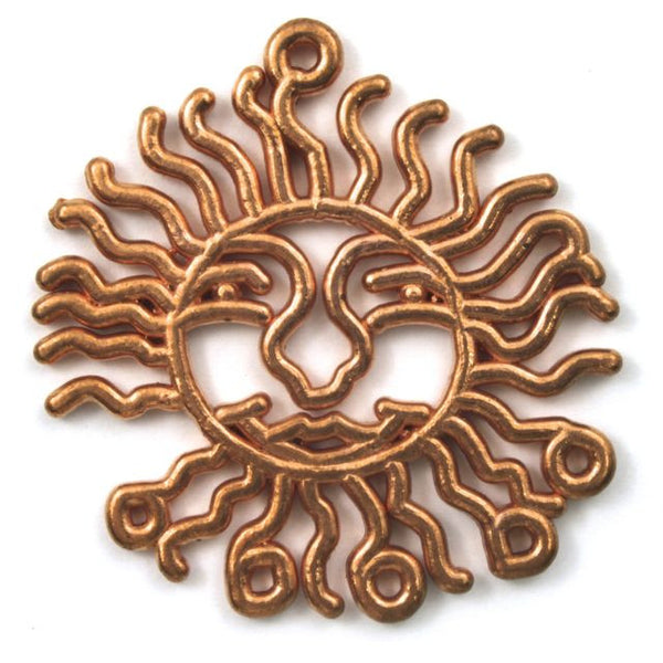 40mm Copper Wavy Sun