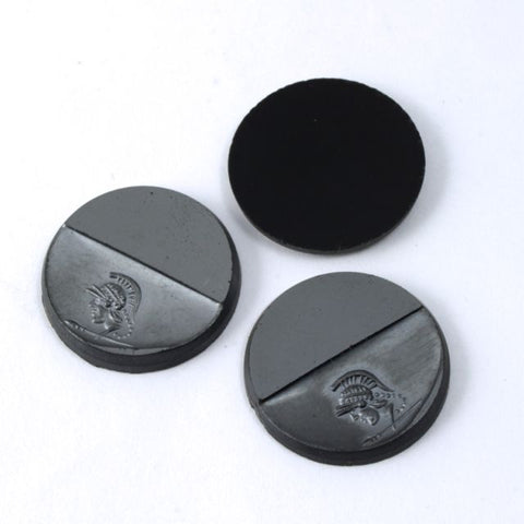 18mm Black Gunmetal Trojan Profile Cabochon #XS113-B-General Bead