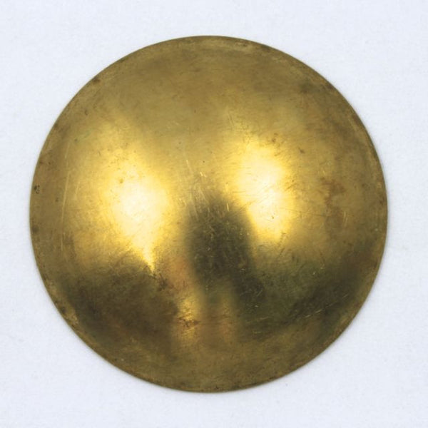 30mm Raw Brass Domed Disk