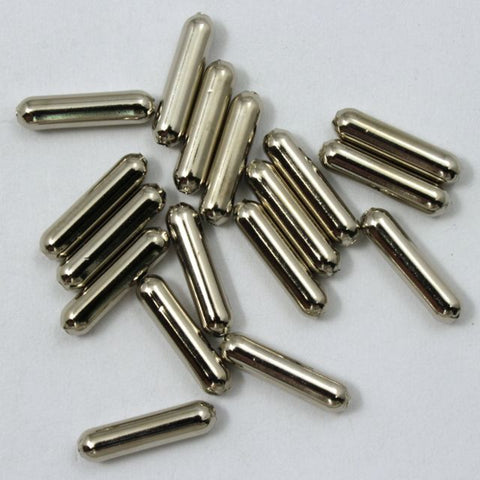 13mm Silver Tube Bead