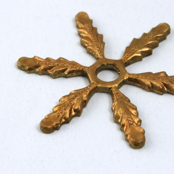 Raw Brass 16mm Snowflake