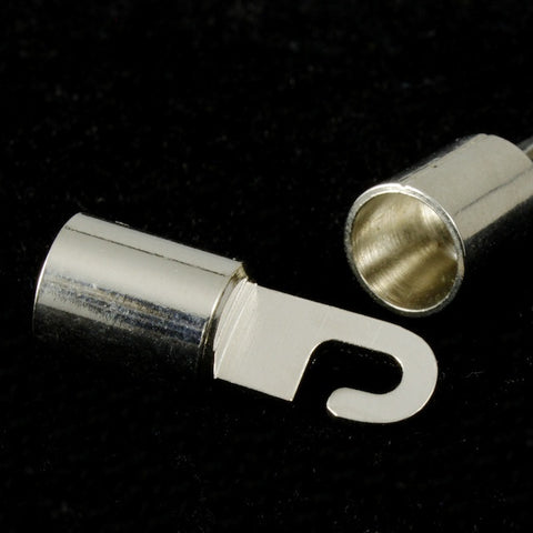 Silver Cord End Hook Clasp Set-General Bead
