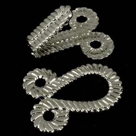 45mm Silver Plated Hook and Eye Clasp Set