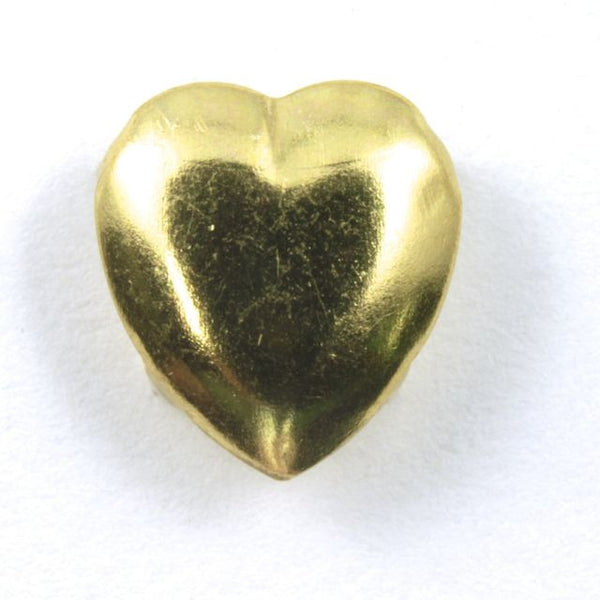 5mm Gold Heart Stud