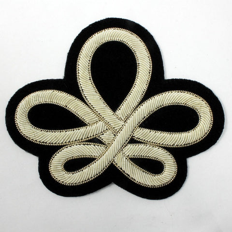 100mm White Victorian Braid Patch