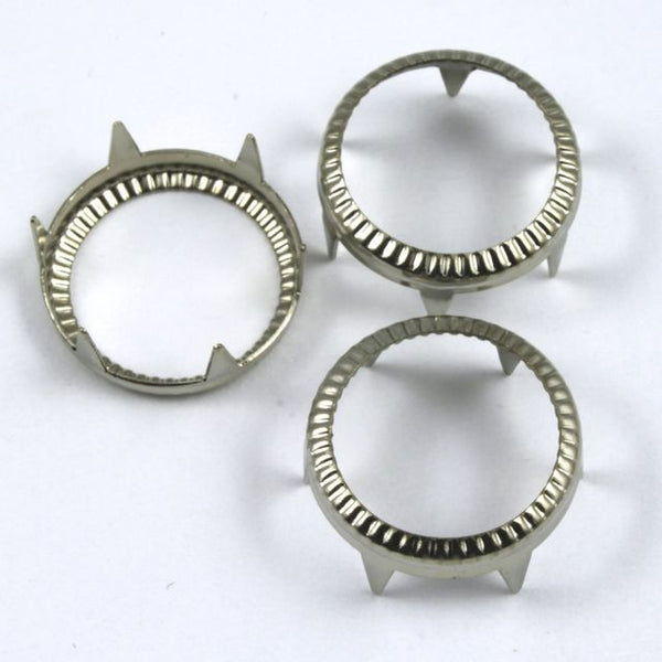15mm Silver Rim Set/Ring Stud