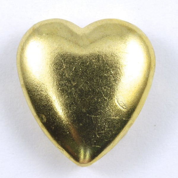 16mm Gold Heart Stud (10 Pcs) #127
