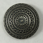 Antique Silver Mexican Style Wheel Cabochon-General Bead