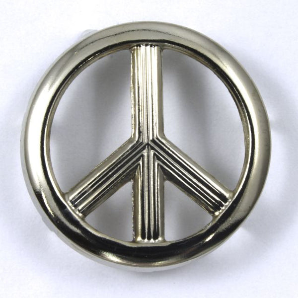 25mm Silver Peace Sign Stud