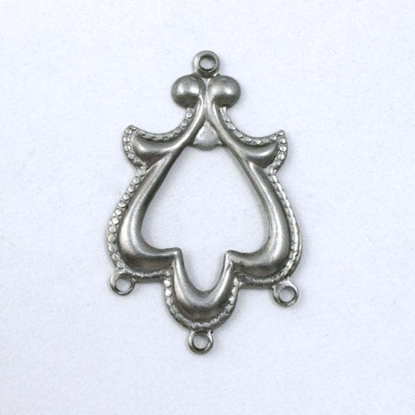 28mm Antique Silver Dresden Eardrop