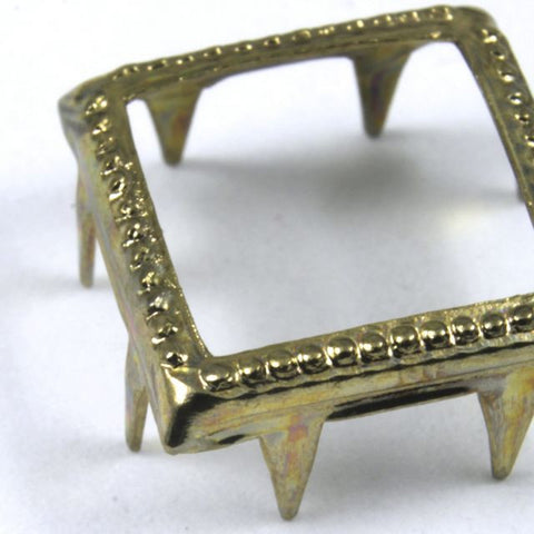 11mm Brass Open Square Stud-General Bead