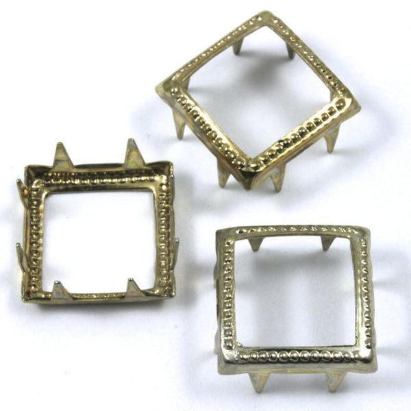 11mm Brass Open Square Stud