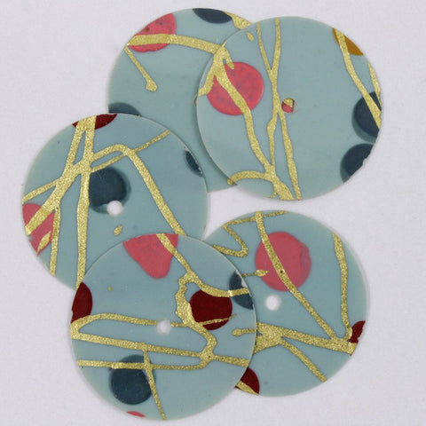 16mm Light Blue Modernist Sequin