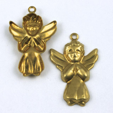 25mm Raw Brass Praying Angel
