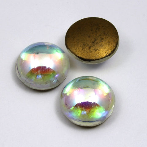 15mm Crystal AB Cabochon #13-General Bead