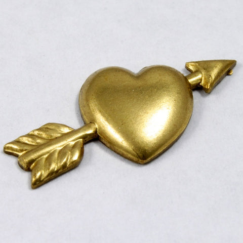 10mm Raw Brass Heart and Arrow #1413-General Bead