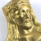 25mm Raw Brass Jesus with Crown of Thorns #142-General Bead