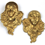 45mm Brass Maiden with Flowing Hair #2291-General Bead