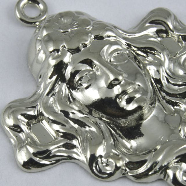 25mm Silver Maiden with Flowing Hair