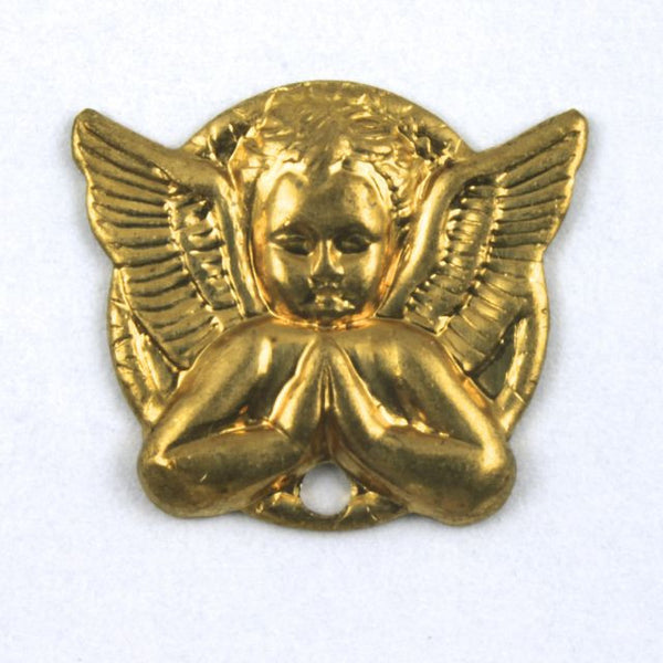 18mm Raw Brass Praying Angel