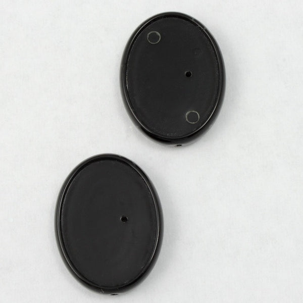 13mm x 18mm Black Lucite Cab Setting