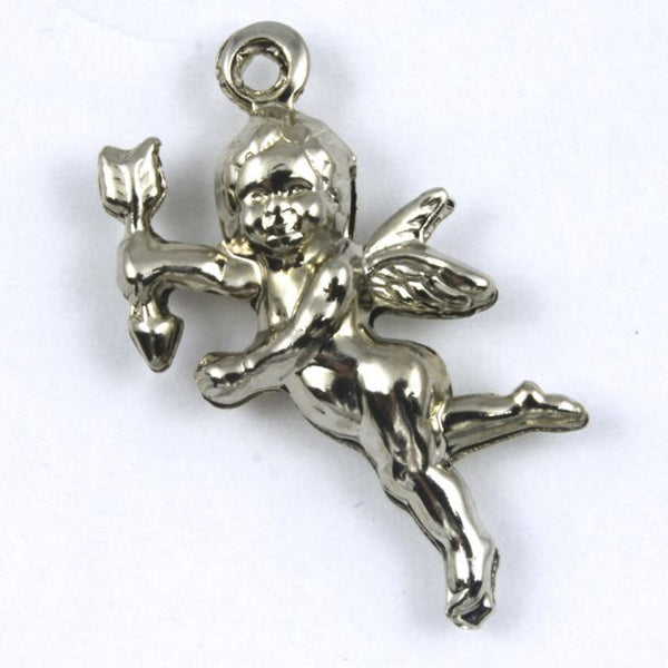 25mm Double-sided Silver Cupid