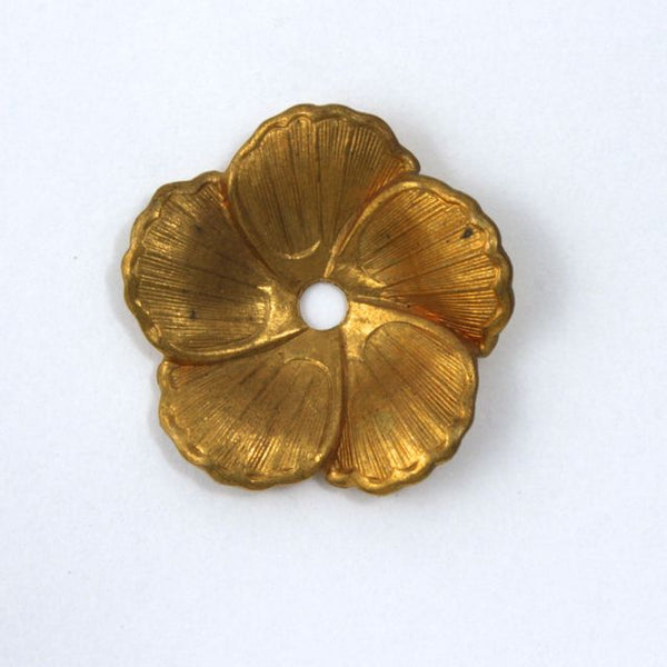 22mm Raw Brass Pansy