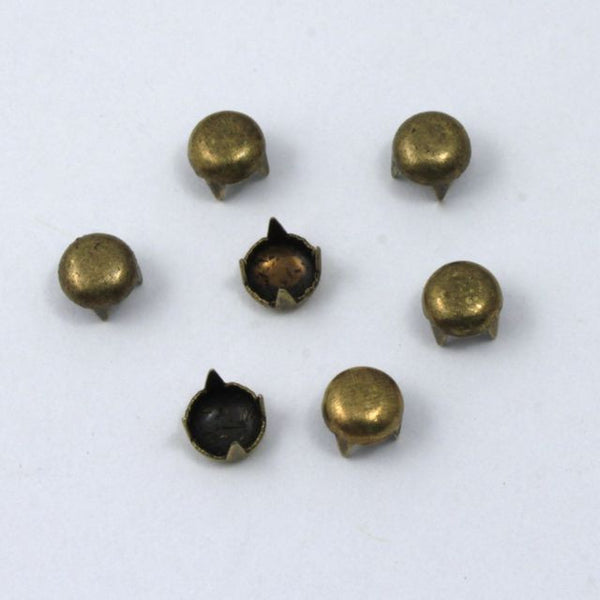 5mm Antique Brass Dome Stud