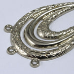 45mm Silver Floral Teardrop Hoop (2 Pcs) #1689-General Bead