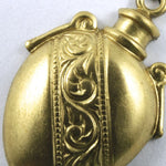 20mm Raw Brass Decorative Vessel #168-General Bead
