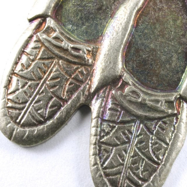 22mm Antique Silver Pair of Moccassins Charm