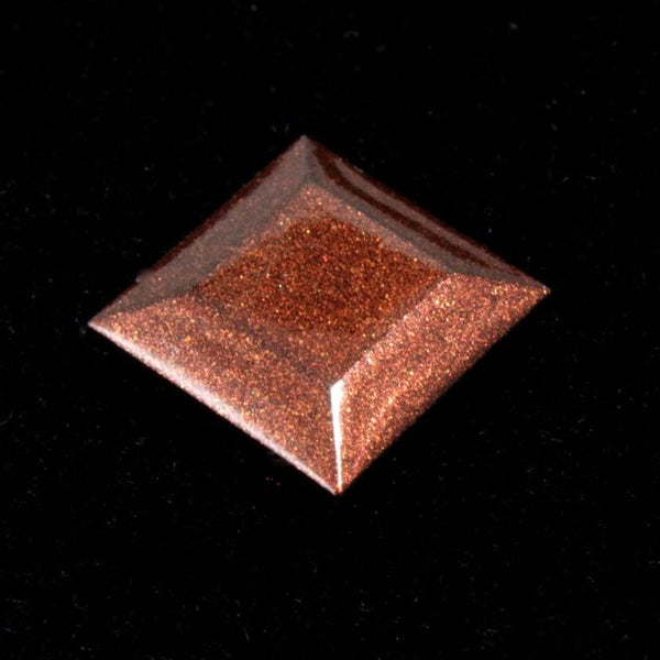 10mm Copper Square Cabochon (2 Pcs) #1705