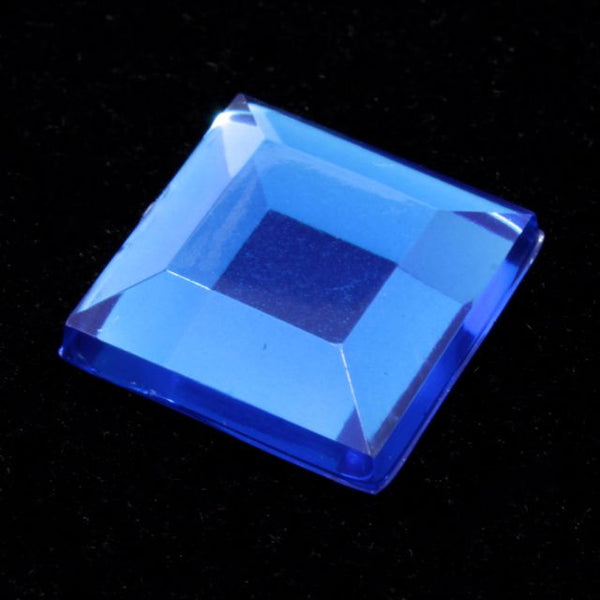 10mm Capri Blue Square Cabochon