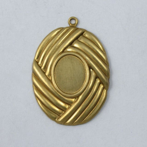 25mm Oval Basketweave Cabochon Setting