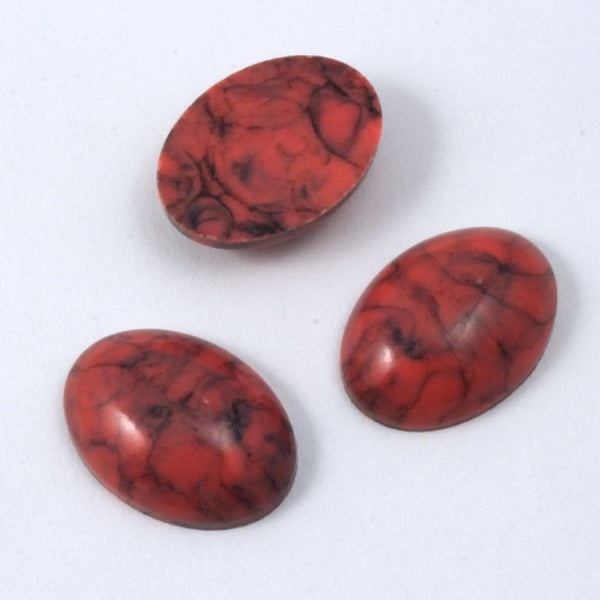 13mm x 18mm Faux Coral Oval