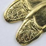 22mm Gold Pair of Moccasins Charm (2 Pcs) #175-General Bead