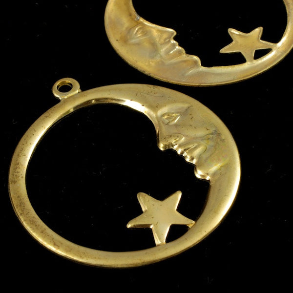 33mm Moon and Star Hoop (2 Pcs) #1761
