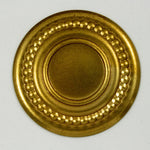 30mm Brass Beaded Round Cab Setting #1765-General Bead