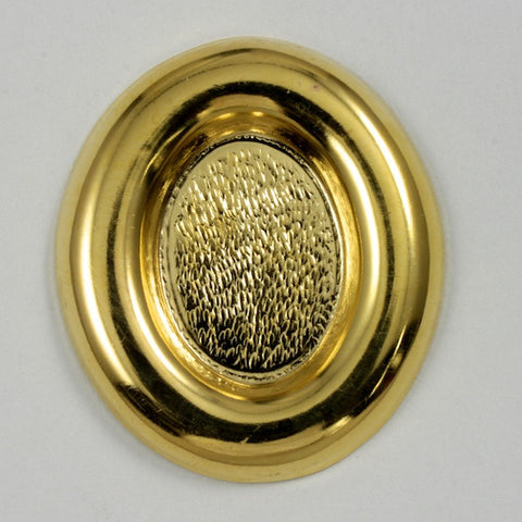25mm x 30mm Gold Oval  Cab Setting