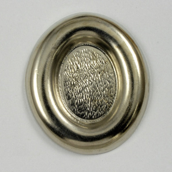 25mm x 30mm Silver Oval  Cab Setting