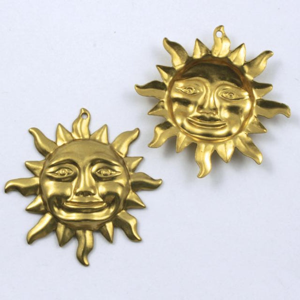 32mm Raw Brass Smiling Sun