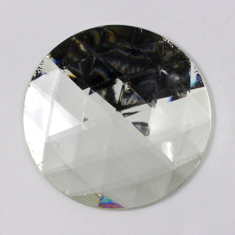 50mm Clear Faceted Cabochon-General Bead