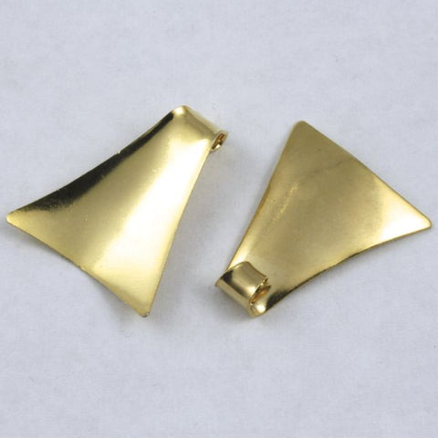 30mm Gold Curled Triangle (4 Pcs) #187-General Bead