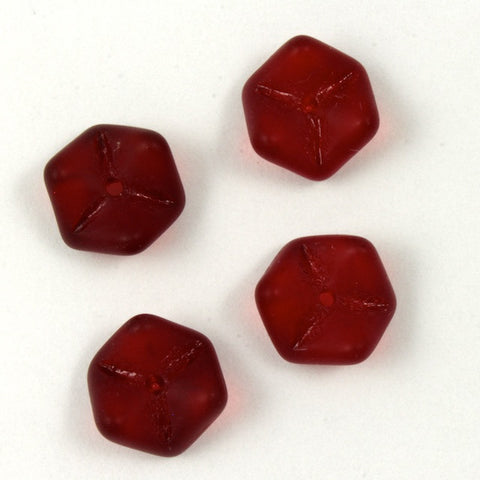 10mm Matte Ruby Snake Bead #1882-General Bead