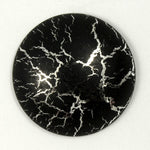 25mm Black and Silver Cabochon-General Bead