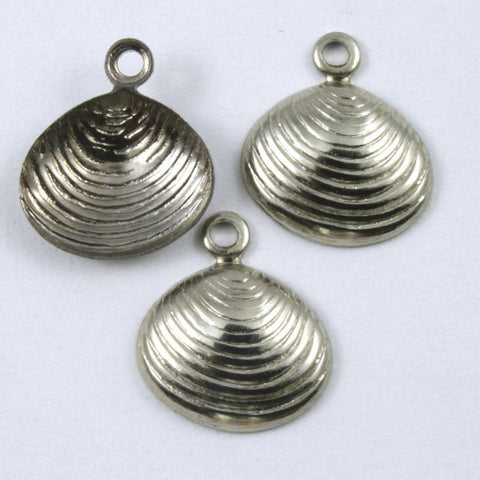10mm Antique Silver Clamshell (4 Pcs) #190